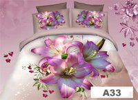 Cheap 80 difference styles 3d comforters for beds! 2016 100% original Cotton Fabric Quilt Duvet Cover Flat Fitted 4pcs 3d 3d bedding set