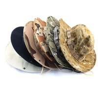 Wholesale Unisex bucket hats outdoor jungle military camouflage bob camo bonnie hat fishing camping barbecue cotton mountain climbing hat