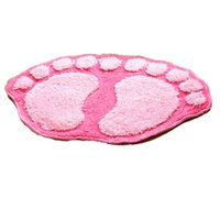 Wholesale 2015 New Products Hot sale Fashion Bath mat door mat bathroom waste absorbing big feet mats