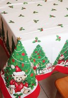 christmas fabric - Christmas Dining Tablecloth Christmas Bear Printed Fabric Table Cover for Home Resturant