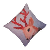 Cheap Fashion Design Pillow Case Home Pillow Cover Cartoon Deer Printed Bedding Supplies EHE100-4*1