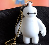 Wholesale 2015 hot cheap gift BIG HERO Baymax Key chain pendant fashion accessories cartoon keychain
