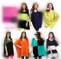 Wholesale Plus Size Loose Shirt Fat People Wear Looose Design Women Loose Tees Shirt Muti Colors Models Choosen Cotton Short Sleeve Shirt