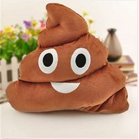 Wholesale HOT Funny Poo Pillow Soft Emoji Smiley Emoticon Cushion Stuffed Plush Toy Gift High Quality Brand New N637