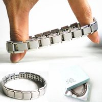 best germanium - Anion Energy Bracelet Stainless Steel Bracelets Germanium Stainless Steel Silver Healthcare Bracelets Best Gift for Lover