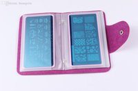 airbrush nail polish - Nail Art Stamp Plate Stamping Plates Cases Stamp Nail Stencil Polish Carimbo De Unha Sellos New Arrival Placas Airbrush A81