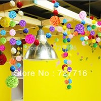 Wholesale cm diameter wedding and hotel Decorative ball multicolor Natural Rattan Balls