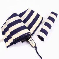 beach umbrella bags - New Brand Striped Automatic Manual UV Coating Windproof Beach Umbrella with Bag Rain Women Men Umbrellas Sunshade