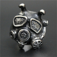 african mask design - 3pc Size Newest Design Gas Mask Ring L Stainless Steel Top Quality Fashion Jewelry Popular Cool Boy Mask Ring