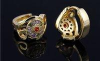 baby girl gold hoops - years guarantee queen design brand women girl baby k gold Plated cupper import zircon fashion hoop earrings Jewelry