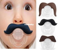 baby teeth black - 1PCS Teeth Boy Girl Infant Silicone Chill Baby Mustache Dummy Beard Nipples Pacifier Teat