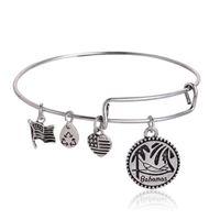 bahamas gifts - Alex and Ani Bahamas Russian Silver Charm Bangle Expandable Bracelet Fast Ship Expandable Wire Bangle Bracelet Jewelry for Women