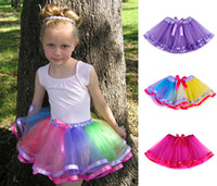 pettiskirts - Ribbon Bow Girls Tutu Skirt Fashion Tutu Skirts Girls Short Baby Tutus Skirt For Girls Pettiskirts Baby Tutu t t Colors
