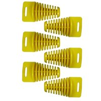 Wholesale 6pcs Big Yellow Exhaust tube plug Muffler for Stroke Plug for MotORCYCLE ATV MOTOCROSS Dirt pit bike