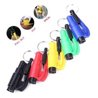 glass cutter - Mini in Seatbelt Cutter Emergency Glass Breaker Key Chain Tool Smart AUTO Emergency Safety Hammer Escape Lift Save Tool SOS Whistle