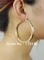 wholesale basketball wives earrings - Vintage Jewelry Big Gold Hoop Earrings For Women Punk Style Gold Plated Large Hoops Basketball Wives Earrings Fashion Accessory