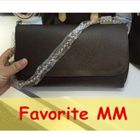 Wholesale Top quality women genuine Leather Favorite MM PM clutch handbag Pochette shoulder bag tote purse