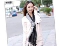 beige tabby - Acrylic Artificial Scarf Wool Pashmina cm Female Tabby Weave Shawl Explosion Models Miss Gradient Color Cashmere Scarves Tassels