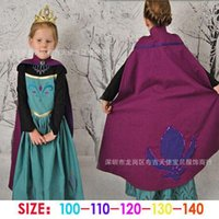 baby athletic clothes - 2015 girls Frozen Elsa coronation costume princess dress cartoon summer lace dresses red cape baby kids party clothes