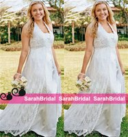 backyard beach - 2016 Wedding Dresses Cheap Beaded Waist for Maternity Pregnant Plus Size Curvy Brides Women with Curves Sale Backyard Outdoor Bridal Gowns