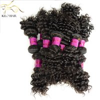 russian hair - Russian Cambodian Indian Malaysian Peruvian Brazilian Curly Human Hair Extensions Weaves Wefts Deep Wave Hair for black woman inch