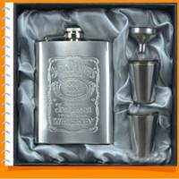 Wholesale Whole new portable stainless steel hip metal flask funnel gift set travel whiskey alcohol liquor portable bottle flagon garrafas para whisky