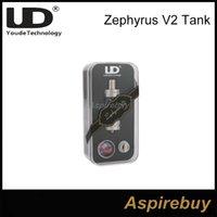 Youde Zephyrus V2 Sub Ohm Atomiseur de réservoir par UD Zephyrus V2 RTA Réservoir 22mm Diamètre 0.2 0.3 0.5ohm Bobines Disponible Remplissage 100% Original