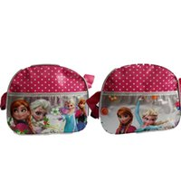 Wholesale Frozen Shoulder Bags Red Dot Designs Frozen Satchel Bags Fashion Children Bags Kids Bags Kids Backpack Handbag EMS