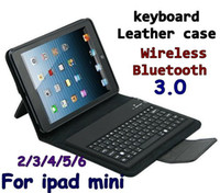ipad mini keyboard - Wireless Bluetooth Keyboard leather case Bags Stand Holder Case Cover for tablet pc ipad Mini Air ipad ipad Air Protective