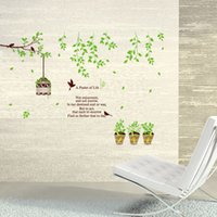 american shades - Green Tree Shade TV Wall Stickers Vintage Home Decor Vinilos Infantiles Adhesive To Wall Adesivo De Parede Infantil Wall Papers