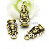 antique brass lanterns - 20x10mm Ancient lantern Antique Bronze Brass Alloy Metal Drop Retro Vintage Jewelry Pendant Charms