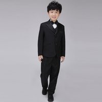 Wholesale 6sets Baby Boys Wedding Wear Long Sleeve Tuxedo Pieces Formal Suit Set Children s Performance Costumes wyb001