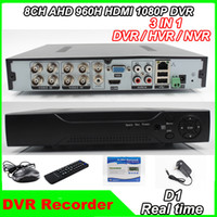 Wholesale 2014 new channel AHD H D1 Real time HDMI P Output ch Hybrid dvr NVR Onvif P2P function CCTV DVR Recorder
