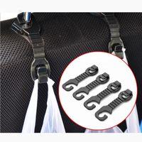 Wholesale 1 pair Car Back Seat Headrest Hanger Holder Hooks For Bag Purse Cloth Grocer