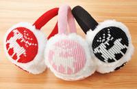 acrylic trim - Winter Knitted Plush Earmuffs for Women Lined Trim Acrylic Cartoon Folding Ear Muffs