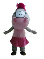 adult hippo costume - Adult Size Boy Girl Hippopotamus Cartoon Mascot Costume Hippo Mascot Clothing for Activity Props Party Dress Cartoon Characters