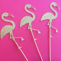appetizer picks - Gold Flamingo wedding cupcake toppers birthday Appetizer Picks Bridal baby shower Bachelorette party decorations