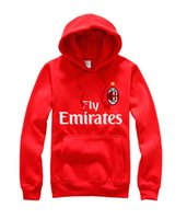 Wholesale The new AC Milan new football promotional Serie Stephan El Shaarawy hedging cashmere Hoodies jacket for men and women