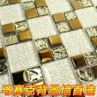 bathroom mirrors manufacturers - Manufacturers special crystal glass mosaic mirror plating puzzle golden backdrop tiled bathrooms Restaurant Bar