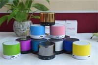 Wholesale Hot sale ECHO S10 Mini Speaker Metal Compact Bluetooth V3 Wireless Stereo Mini Speaker Speakerphone Mobile colors Mixed without logo