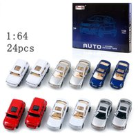 Wholesale 24pcs set with box Cars Children Boys Man Model Toys Christmas New Year Gifts Diecast Cars Model Vehicle Car D2985