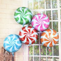 Wholesale Tide Candy Balloons Lollipops Swirl Peppermint Wedding Foil Party Decoration quot