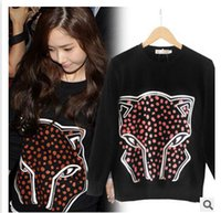 Wholesale 2015 women s clothing sweatshirts leopards dots ladies pullovers hip hop hoodies woman spring Autumn winter jacket