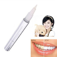 Wholesale DHL free Teeth Whitening Pen Carbamide Peroxide Gel Soft Brush Applicator For Tooth Whitening Dental Care Whitener Gel ml