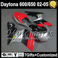 triumph - Racing red gifts For Triumph Daytona Fairings M2541 red black silver Daytona650 Triumph650