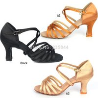 Wholesale cm High Heel Adult Female Latin Modern Ballroom Dancing Shoes H2123 T15