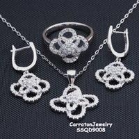 European unique jewelry - Unique Design jewellery sets solid silver Butterfly Shaped finest pendant earrings ring sets as best gift pure silver jewelry SSQD9008