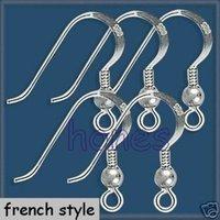 findings - 925 Silver Polish Earrings Finding French Ear Wire Hook STERLING SILVER French HOOKS EarWires Ear