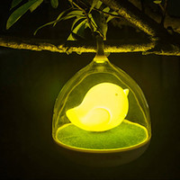 Wholesale 2015 Portable Lighting Lovely Birdcage lamp USB Rechargable Touch Sensor Dimmable Children Night Light Bedroom Lamp