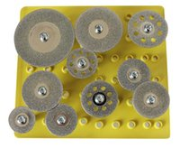 Wholesale 10pc Diamond Saw Cut Off Discs Wheel Blades Rotary Tool Set Shank for Dremel Brand New F order lt no track